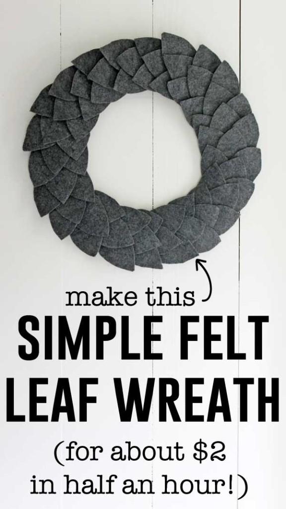 DIY felt leaf wreath tutorial