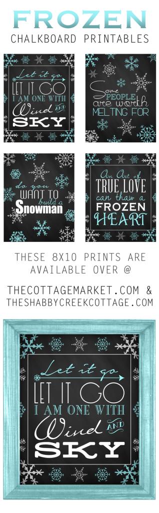 Frozen Chalkboard Printables