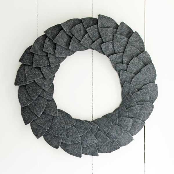 felt leaf wreath tutorial