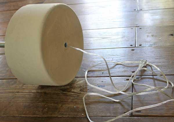 DIY industrial floor lamp