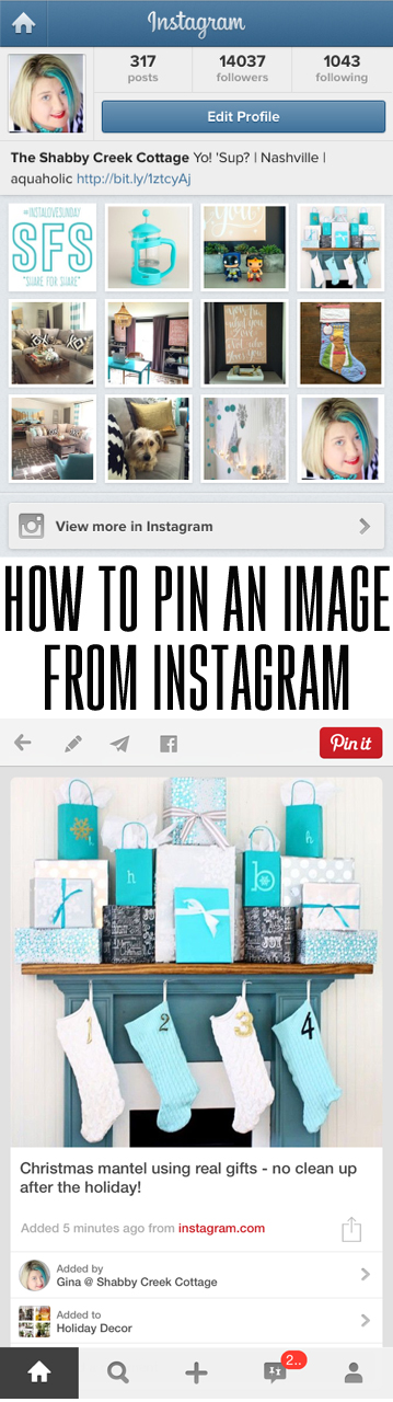 how to pin an image from instagram