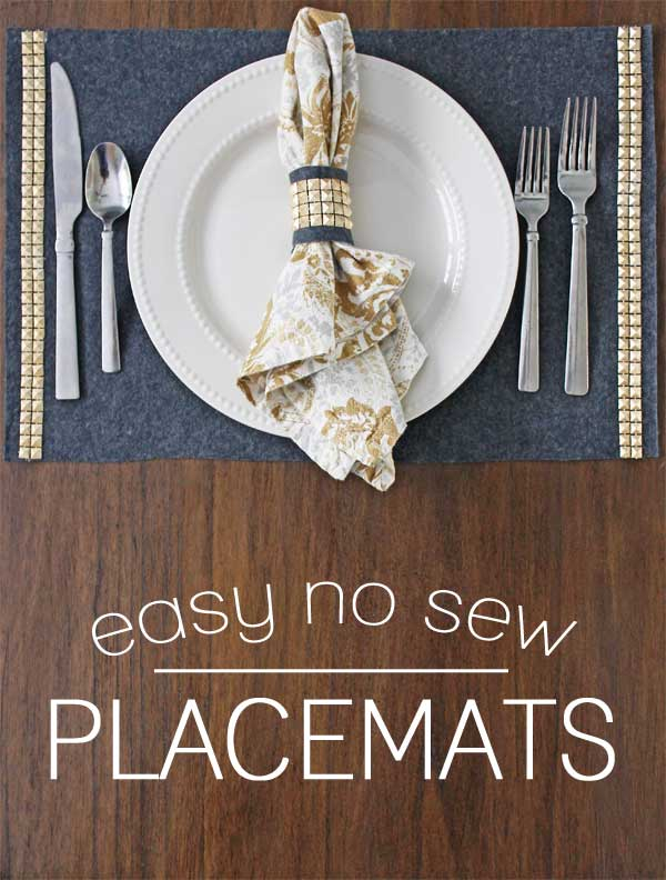 no sew placemats tutorial