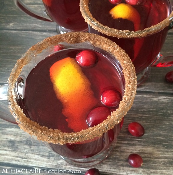Easy and Spiked Slow cooker Cranberry Mulled Cider