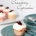 White Chocolate-Cranberry Poke Cupcakes