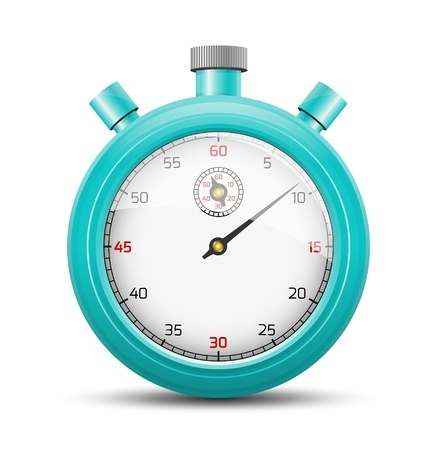 set a timer to help with decluttering