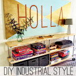 DIY Industrial Storage Cart