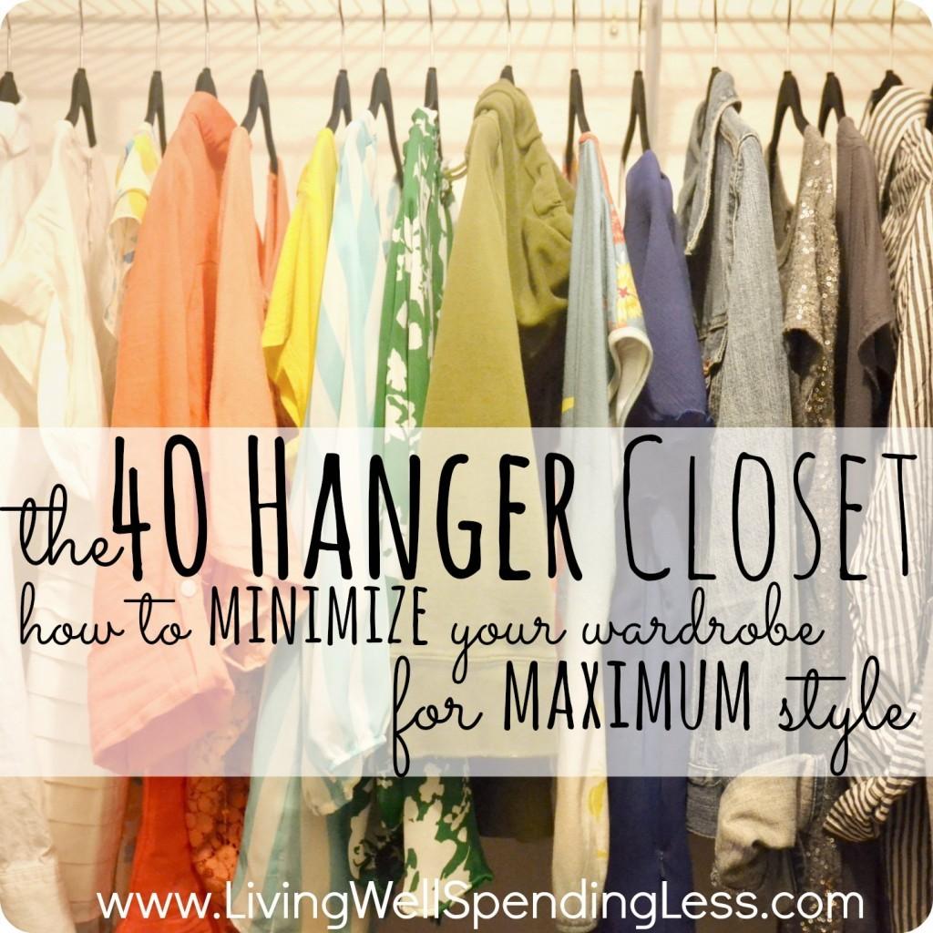 40 hanger trick for decluttering