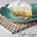 Easy Triple-Layer Eggnog Pie