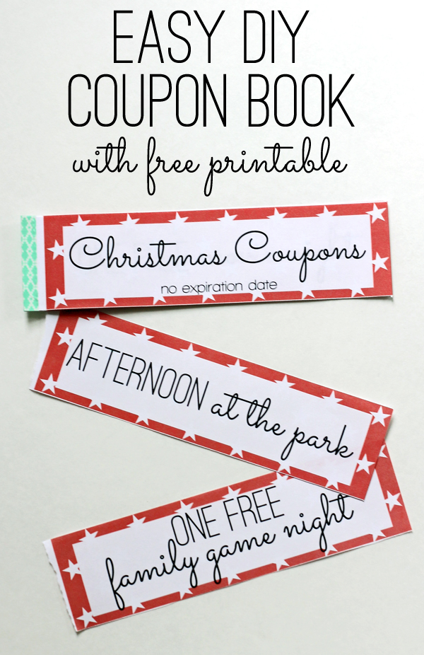 Free Printable: Kids Christmas Coupon Books