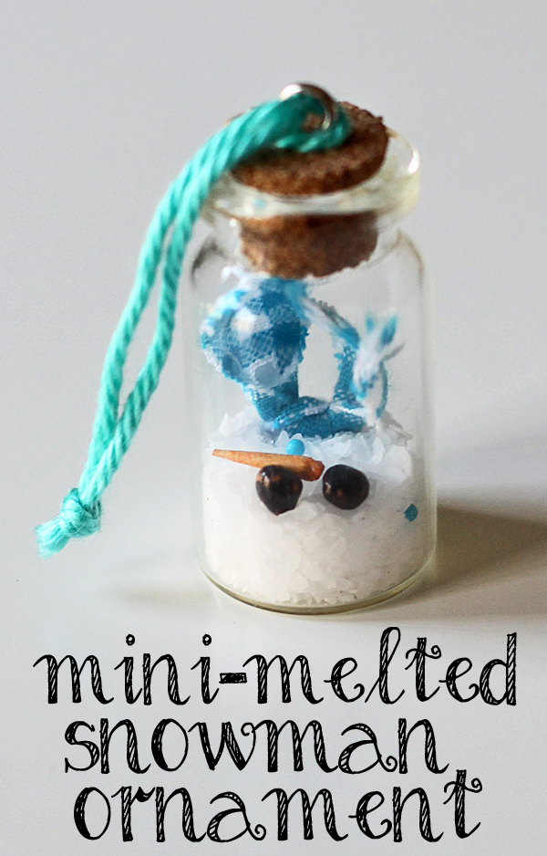 mini-melted snowman ornament