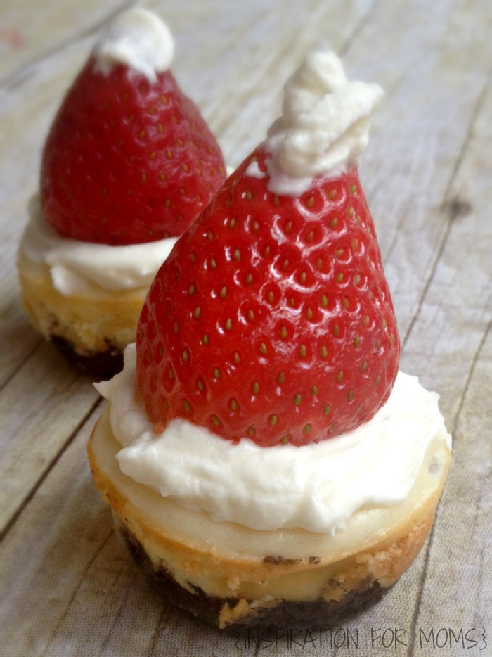 Easy and Fun Gluten Free Cheesecake Santa hats