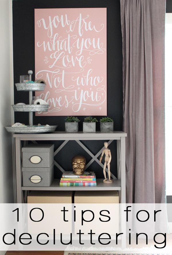 ten tips for decluttering