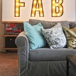 DIY custom lighted marquee sign
