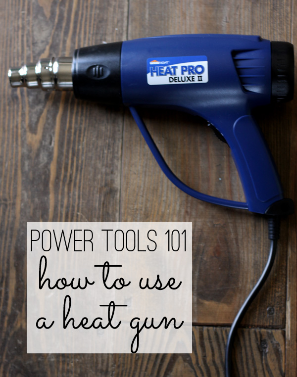 how to use a heat gun