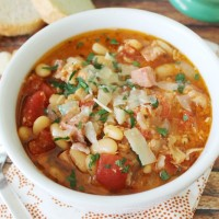 Low Calorie Slow Cooker Pork and Sausage Cassoulet