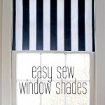 easy sew window shades