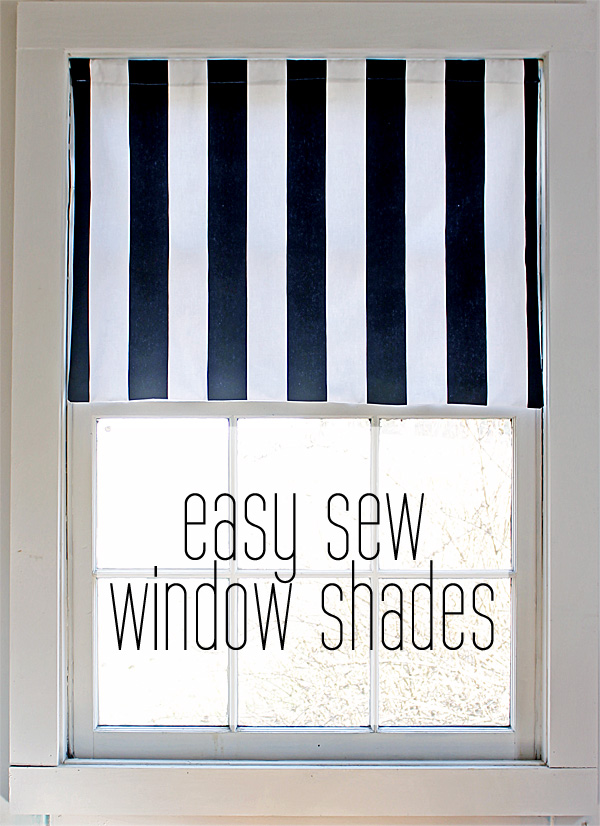easy sew window shades