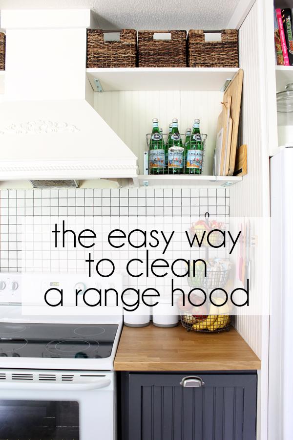 how to clean a range hood
