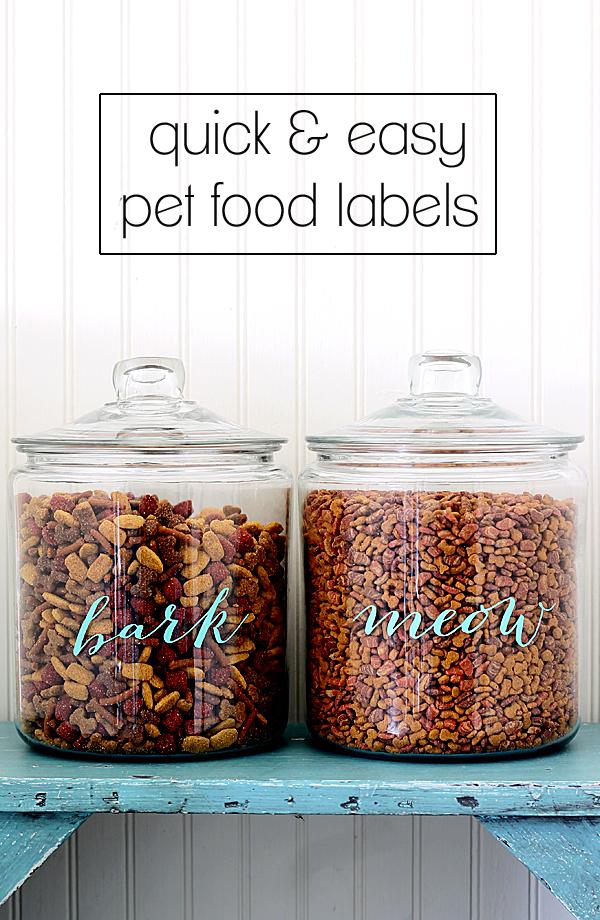 easy DIY pet food labels
