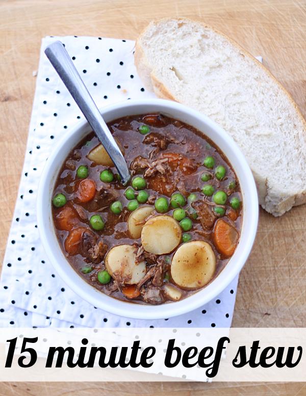 Quick Meals 15 Minute Beef Stew