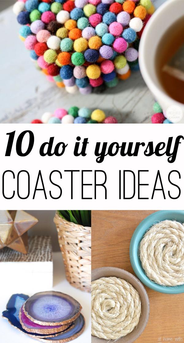 10 diy coasters for Drink coaster ideas