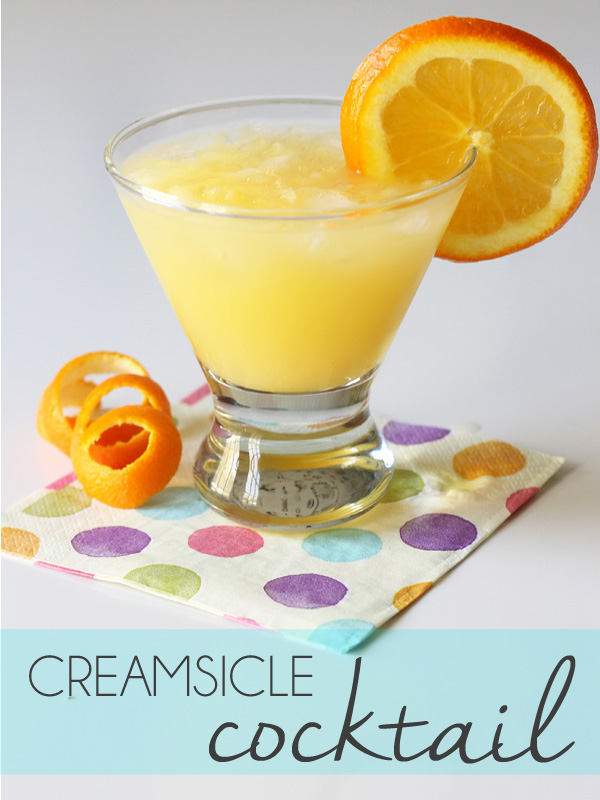 Frozen Creamsicle Drink Recipe With Vodka
