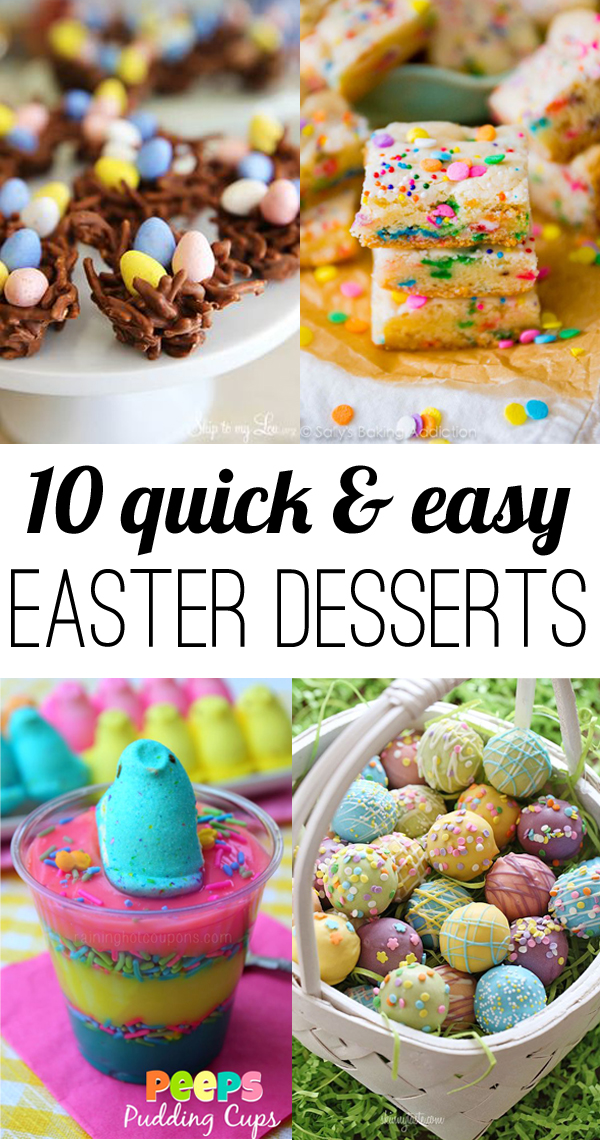 10 quick and easy Easter Desserts