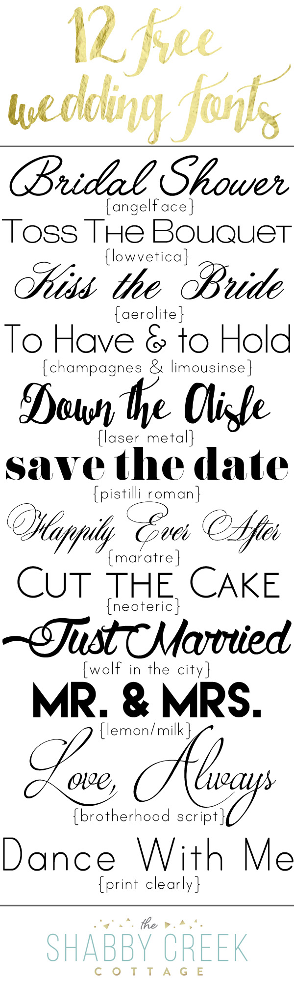 Free Wedding Fonts Personal Use Only