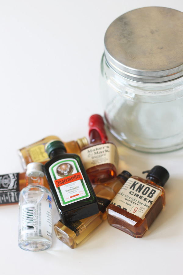 minibar in a jar gift idea
