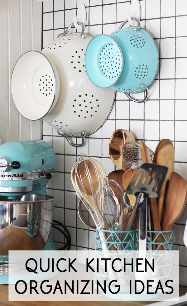 quick kitchen organizing ideas #damagefreeDIY