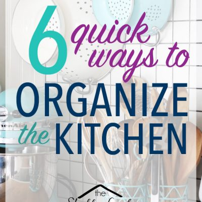 Quick Kitchen Organizing Ideas