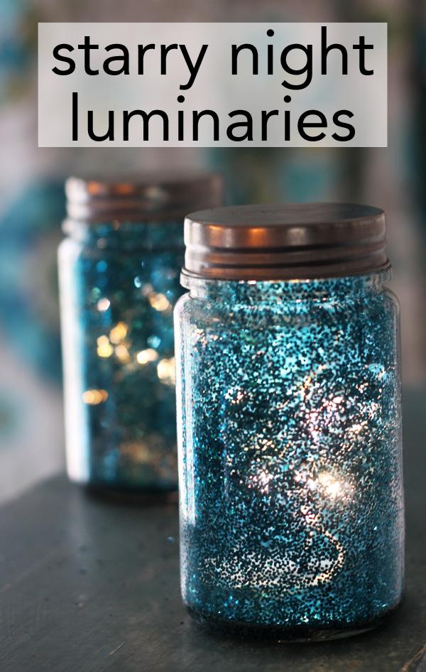 super easy starry night luminaries