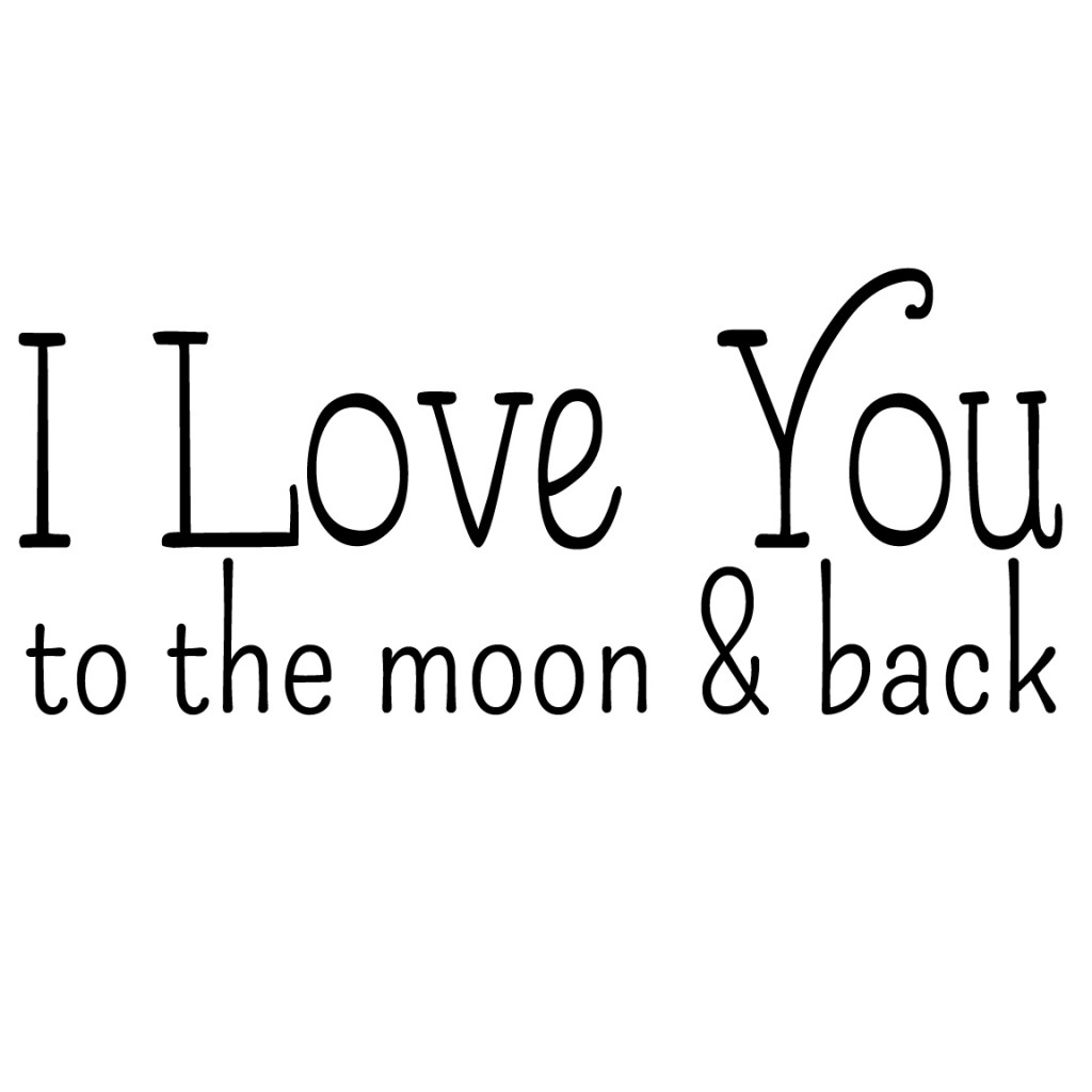 I Love You To The Moon And Back: I Love You To The Moon And Back Pillow {free Graphic For DIY}
