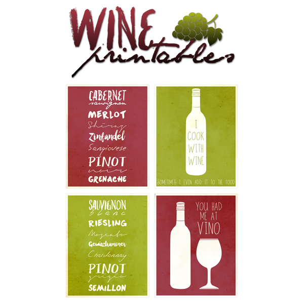 The Wine Collection – Free Printables