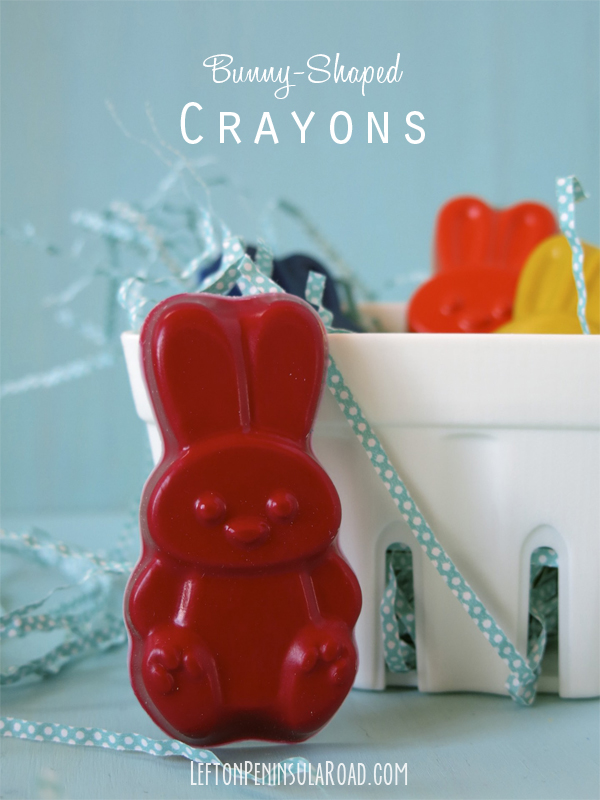 Make Your Own Bunny-Shaped Crayons for Easter