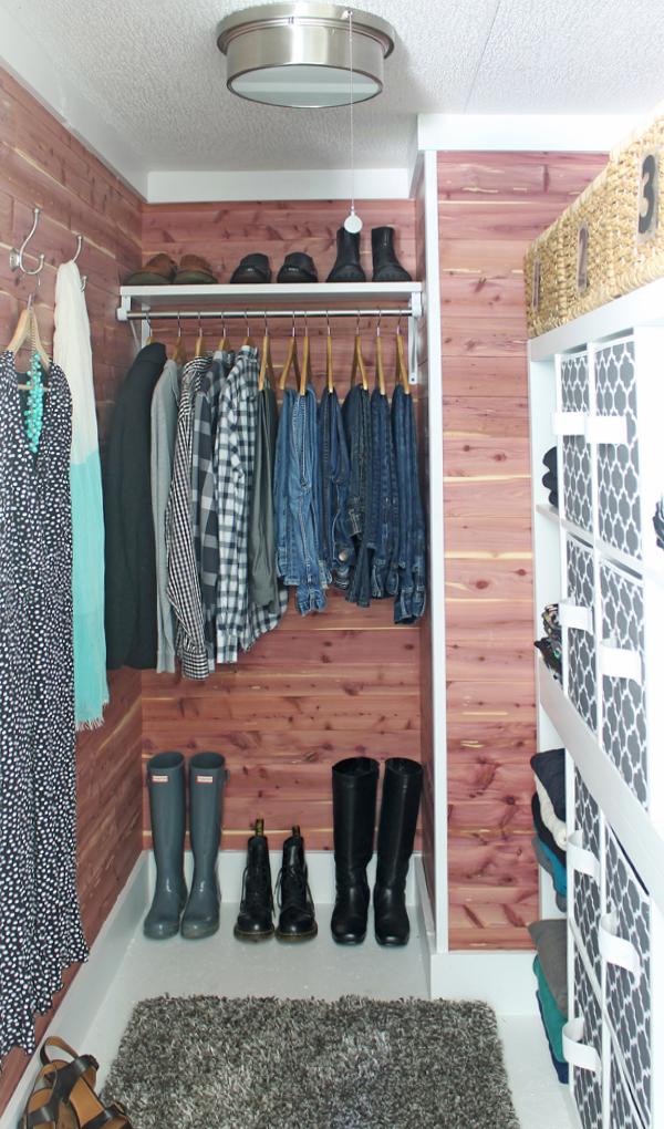 DIY Cedar Closet Makeover