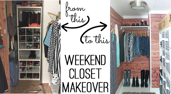 Closet Before And After. Cedar Safe Closet Makeover By The Shabby Creek  Cottage