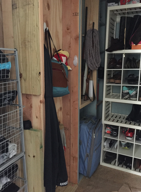 BEFORE PHOTO: Cedar Safe Closet Makeover by The Shabby Creek Cottage