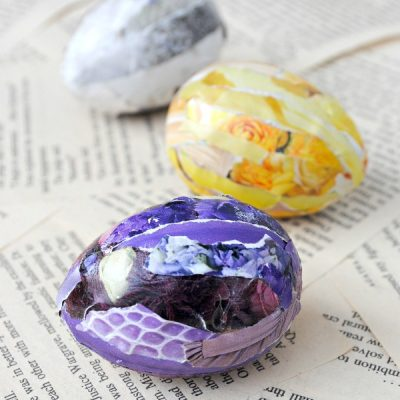 Decoupage Collage Easter Eggs