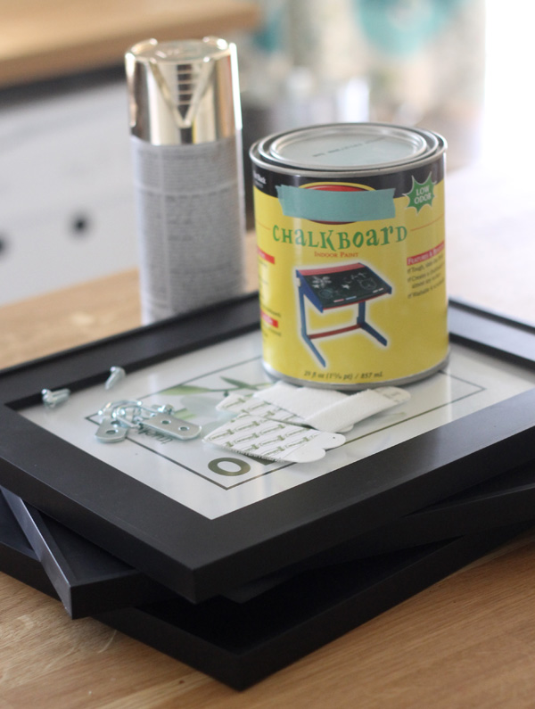 DIY Chalkboard Photo Frame #damagefreeDIY