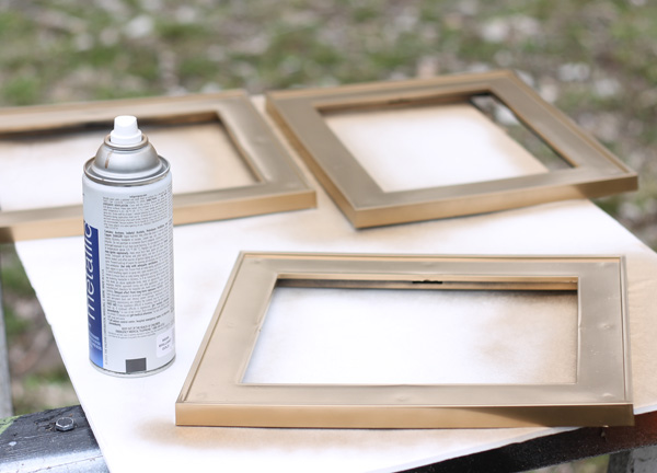 DIY large chalkboard photo frame