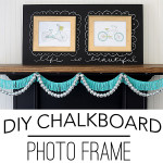DIY Chalkboard Photo Frame