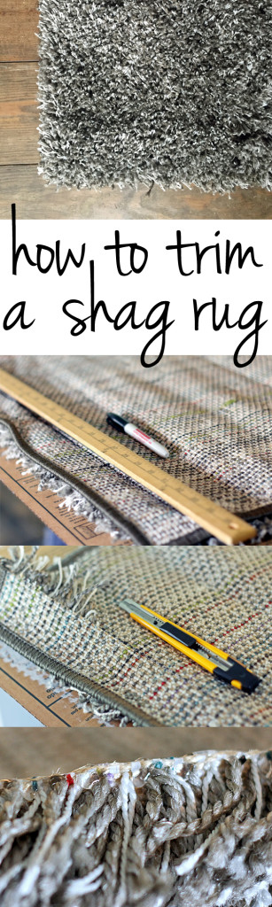 how to trim a shag rug