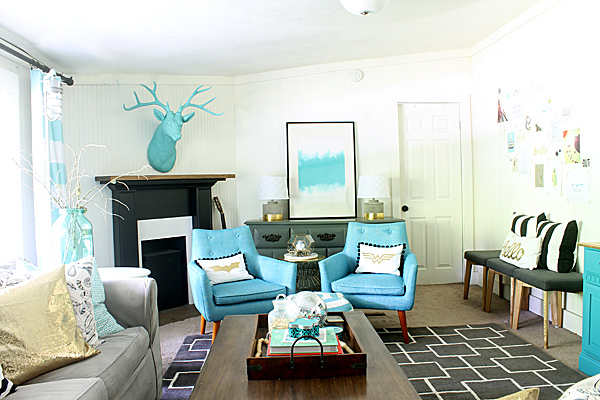 living room - summer tour of homes