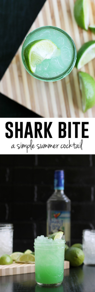 Shark Bite - a simple summer cocktail