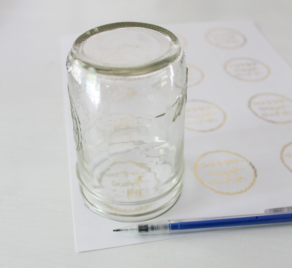 gold foil labels for jars