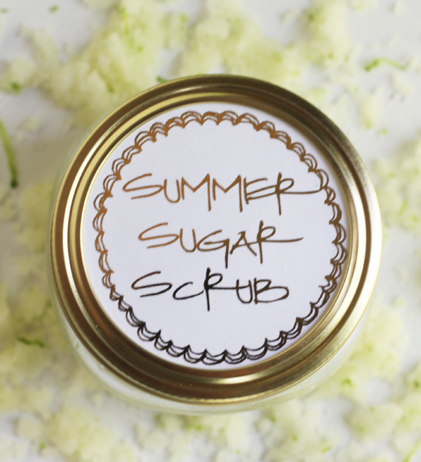Summer Sugar Scrub (with printable labels)