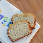 Citrus glazed poppy seed bread
