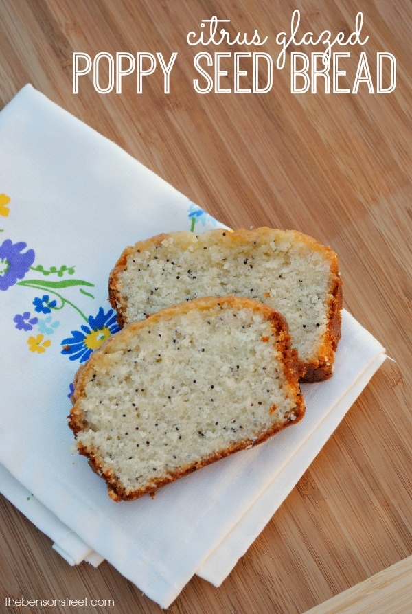 Citrus glazed poppy seed bread