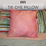 DIY tie-dye pillow